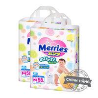 Combo 2 túi Tã-bỉm quần Merries M58