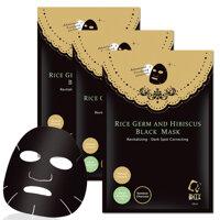 Combo 3 mặt nạ đen BUTYBUTY USA mầm gạo và hoa dâm bụt 28mlx3