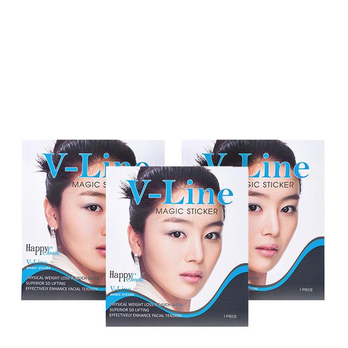 Combo 3 miếng dán khuôn mặt Tigo V-Line Magic Sticker Happy Smile