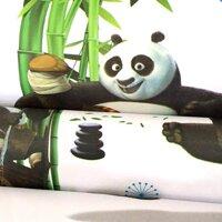 Combo 5m giấy dán tường gấu Panda BinBin DTL53