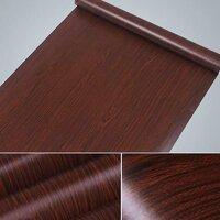 Combo 5m giấy dán tường vân gỗ nâu BinBin DTL47