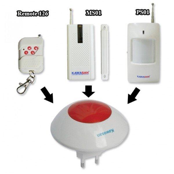 Combo còi báo động trung tâm tại chỗ Kawasan KW-AL213