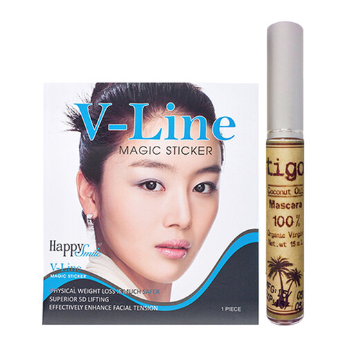 Combo miếng dán V-Line Magic Sticker và Mascara dưỡng mi Tigo 15ml
