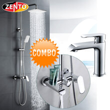 Combo sen cây & vòi lavabo Zento KM118