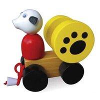 Con chó trên xe kéo dây-VT3P-0125