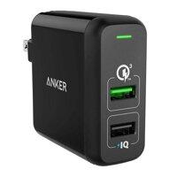 Củ sạc Anker 2 cổng PowerPort 2 (Quick Charge 3.0)