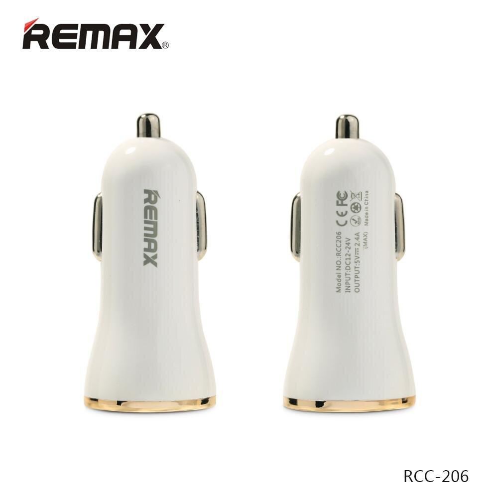 Củ sạc ô tô 2 cổng Remax RCC-206