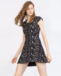 Đầm họa tiết Zara ZDW143