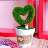 Hoa tim giả bằng nhựa Kiến Lâm PL.36-006