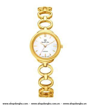Đồng hồ nữ dây thép không gỉ Olympia Star OPA28023LK