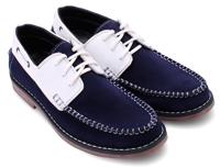 Giày nam Huy Hoàng cột dây xanh phối trắng HH7168