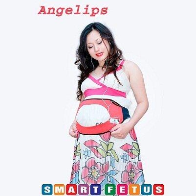 Đai nghe bà bầu Angelips - 4 loa hồ trợ âm thanh