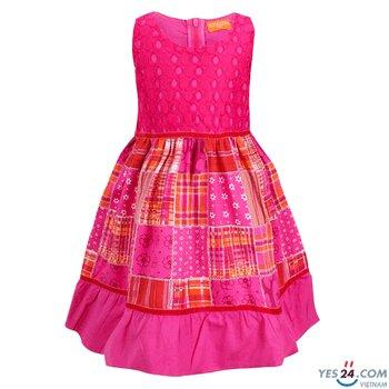 Đầm bé gái sát nách màu hồng - BG51001