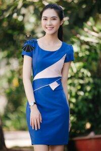 Đầm bút chì xanh bích Đầm Việt DV268