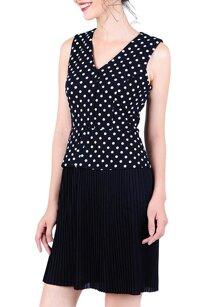 Đầm chấm bi dập ly thời trang Eden D181DE