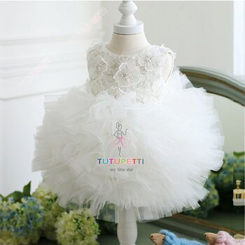 Đầm công chúa cao cấp màu trắng Tutu 2964