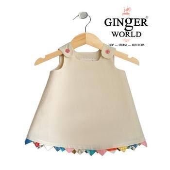 Đầm Crop Top lửng mặc với quần Legging cho bé CD17