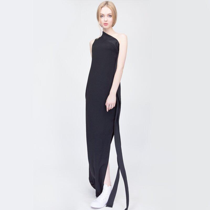 Đầm dài lệc vai cách điệu Can De Blanc S16V011