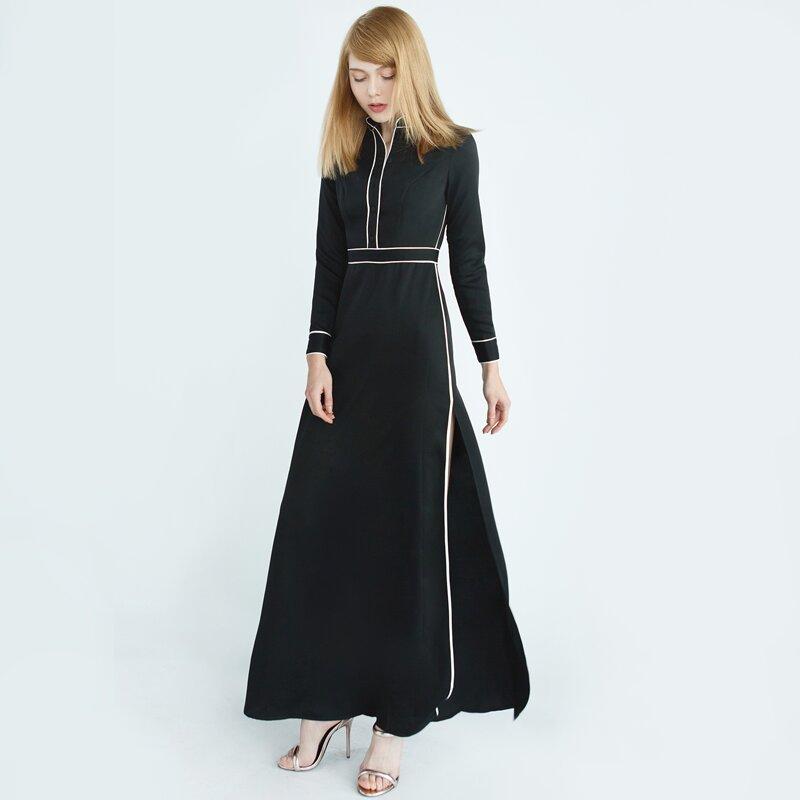 Đầm dài xẻ tà cao sang trọng Can De Blanc W16H2060