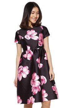 Đầm hoa tùng xòe dài Labelle D197