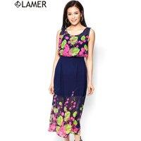 Đầm maxi hoa chân Lamer LM03600544