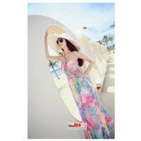 Đầm Maxi Hoa Sắc Màu