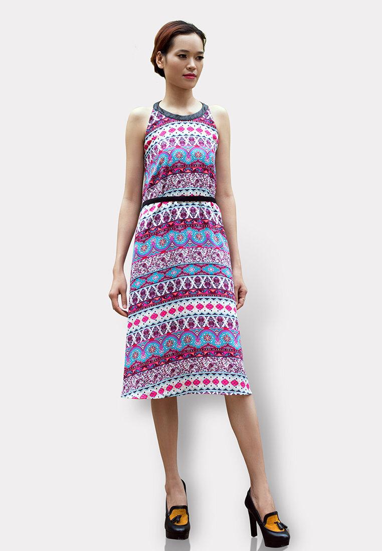 Đầm Maxi Phối Da Cung Cấp Bởi Hanali