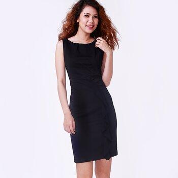 Đầm Midi không tay cổ tròn Hity Fashion DRE051