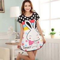 Đầm ngủ dễ thương thỏ con - MS217 ( GS60 )