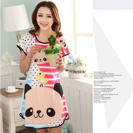 Đầm Ngủ Hoạt Hình Vịt Con Và Gấu MS306 (GS60)