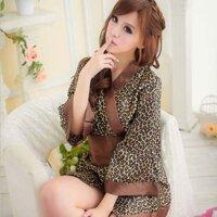 Đầm ngủ sexy da báo Nhật Bản - MS146 (GS83)