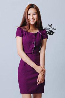 Đầm ôm phối nút Đầm Việt DV295