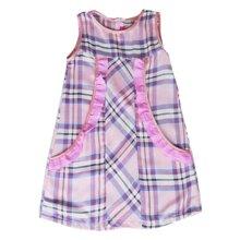 Đầm suông ca rô hồng bèo túi Cuckeo HC 618