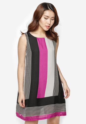 Đầm suông cách điệu Hoàng Khanh Fashion