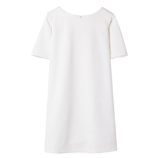 Đầm suông cổ tròn tay ngắn TC2005023WH