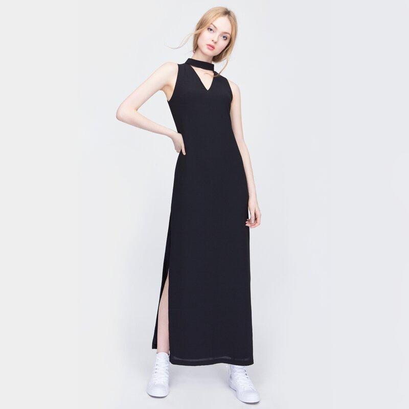 Đầm suông dáng dài xẻ tà cao Can De Blanc S16V022