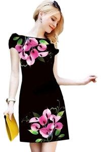 Đầm suông hoa ly