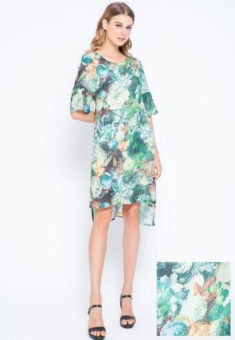 Đầm suông họa tiết tay lỡ Lamer LMH03703643