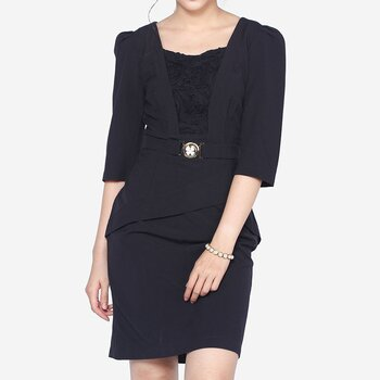 Đầm tay lỡ phối ren hoa The One Fashion DDY0875