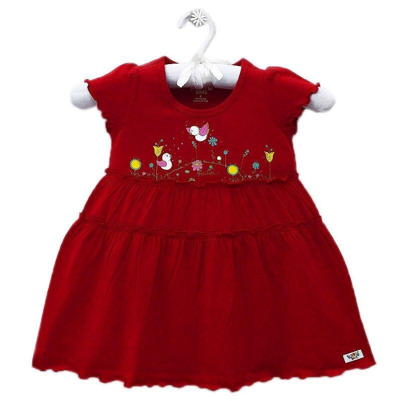 Đầm Tay Ngắn Bé Gái In Hình Bướm Kavio Kids GS463-N1