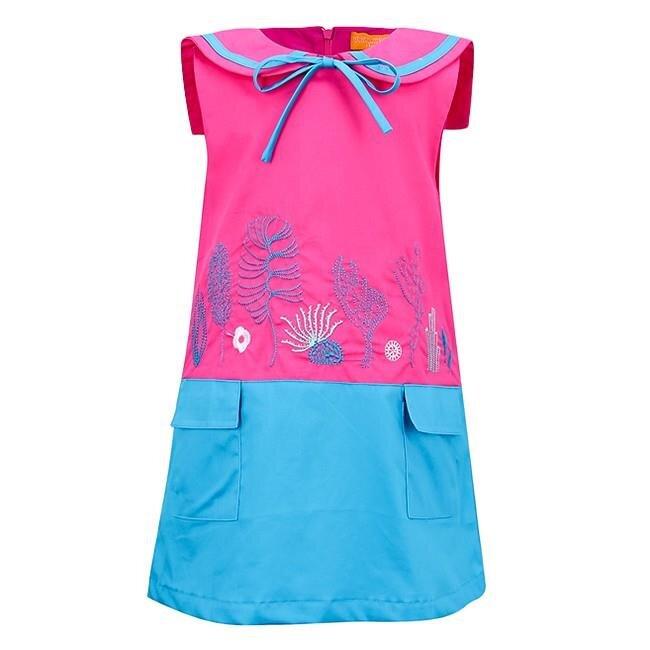 Đầm thêu họa tiết biển VTA  kids BG70101
