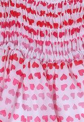 Đầm trẻ em Cirino in hình trái tim ngực nhún thun