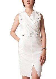 Đầm vest không tay phối nút Carita BW0037