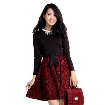 Đầm xòe nữ Phối Nhung gấm thương hiệu CIRINO