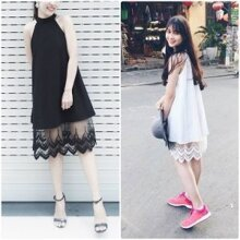 Đầm yếm chân ren Leta Belita LD021