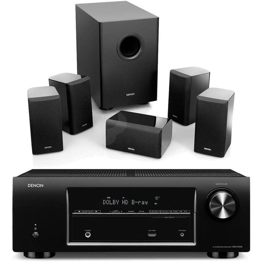 Dàn âm thanh Denon DHT500XP (Amply AVR-X500 + Loa SYS5.1BKE1)