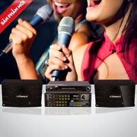 Dàn karaoke Hanco ( loa + amply + đầu karaoke)