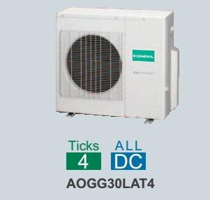 Dàn nóng điều hòa General Multi AOGG30LAT4 - 2 chiều, inverter, 30000btu