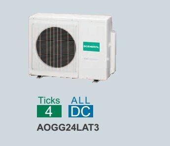 Dàn nóng điều hòa General Multi AOGG24LAT3 - 2 chiều, inverter, 24000btu