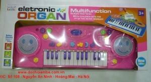 Đàn organ kèm micro 2505A – màu xanh/ hồng